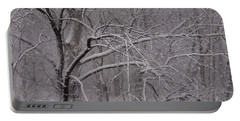 Snow In The Trees At Bulls Island Portable Battery Charger