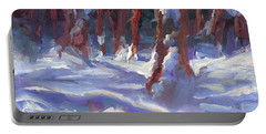 Snow Laden - Winter Snow Covered Trees Portable Battery Charger