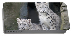 Snow Leopard Cubs Portable Battery Charger