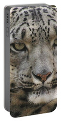 Snow Leopard Portable Battery Charger by Diane Alexander