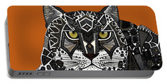 Snow Leopard Orange Portable Battery Charger