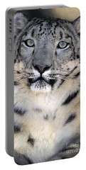 Portable Battery Charger featuring the photograph Snow Leopard Portrait Endangered Species Wildlife Rescue by Dave Welling