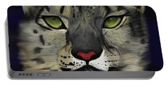 Snow Leopard - The Eyes Have It Portable Battery Charger