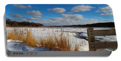 Portable Battery Charger featuring the photograph Snow Marsh by Dianne Cowen