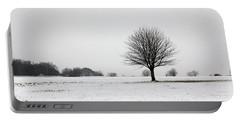 Snow On Epsom Downs Surrey England Uk Portable Battery Charger