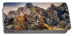 Portable Battery Charger featuring the photograph Snow On Peaks 45 by Mark Myhaver