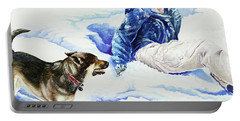 Snow Play Sadie And Andrew Portable Battery Charger