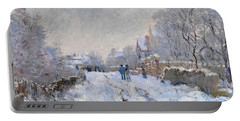 Snow Scene At Argenteuil Portable Battery Charger