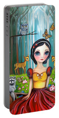 Snow White In The Enchanted Forest Portable Battery Charger