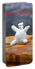Snowball Snowman Portable Battery Charger