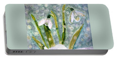 Portable Battery Charger featuring the photograph Snowdrops A Promise Of Spring by Angela Davies