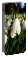 Snowdrops Portable Battery Charger by Nina Ficur Feenan
