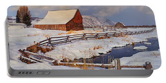 Snowed In Portable Battery Charger by Priscilla Burgers