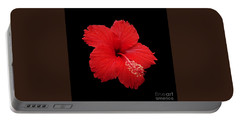 Portable Battery Charger featuring the photograph Snowflake Hibiscus by Judy Whitton