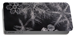 Snowflakes Portable Battery Charger by Eunice Gibb