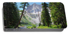 Portable Battery Charger featuring the photograph Snowmass Peak Landscape by Cascade Colors