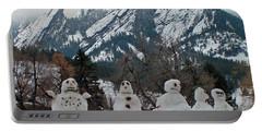 Flatiron Snowmen. Portable Battery Charger