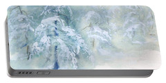 Snowstorm Portable Battery Charger by Joy Nichols