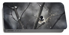 Snowy Chickadee Portable Battery Charger