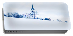 Snowy Church Portable Battery Charger