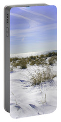 Portable Battery Charger featuring the photograph Snowy Dunes by Karen Silvestri