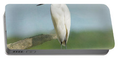 Snowy Egret Portable Battery Charger