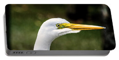 Snowy Egret Profile Portable Battery Charger