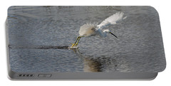 Snowy Egret Wind Sailing Portable Battery Charger by John M Bailey