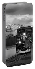 Snowy Engine Through The Rockies Portable Battery Charger