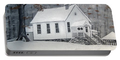 Snowy Gates Chapel  -little White Church - Ellijay Portable Battery Charger