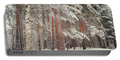 Snowy Memory Of The Woods Portable Battery Charger
