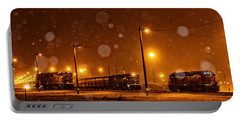 Snowy Night Portable Battery Charger