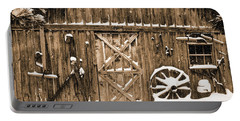 Snowy Old Barn Portable Battery Charger