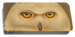 Snowy Owl Portable Battery Charger by Darren Robinson