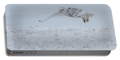 Portable Battery Charger featuring the photograph Snowy Owl #1/3 by Patti Deters