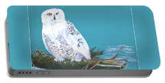 Snowy Owl Portable Battery Charger by Seth Weaver