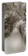 Snowy Path Portable Battery Charger by Vicki Spindler