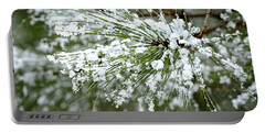 Snowy Pine Needles Portable Battery Charger
