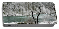 Snowy River And Bank Portable Battery Charger by Belinda Greb