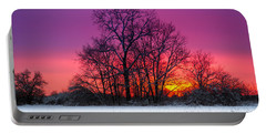 Snowy Sunset Portable Battery Charger