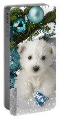 Snowy White Puppy Present Portable Battery Charger