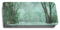 Snowy Winter Night Portable Battery Charger