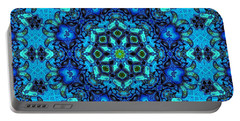 So Blue - 33 - Mandala Portable Battery Charger by Aimelle