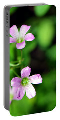 So Delicate In Purple. Texas Spring Perennial Portable Battery Charger