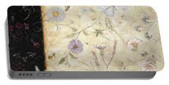 Portable Battery Charger featuring the painting So Many Choices by Randy Wollenmann