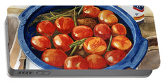 Soaking Tomatoes Portable Battery Charger