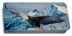 Portable Battery Charger featuring the photograph Soaring Bald Eagle by Gary Keesler