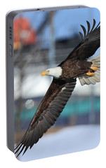Portable Battery Charger featuring the photograph Soaring Eagle by Coby Cooper