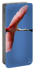Soaring High Roseate Spoonbill Portable Battery Charger