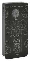 Portable Battery Charger featuring the digital art Soccer Ball Construction Artwork - Gray by Nikki Marie Smith